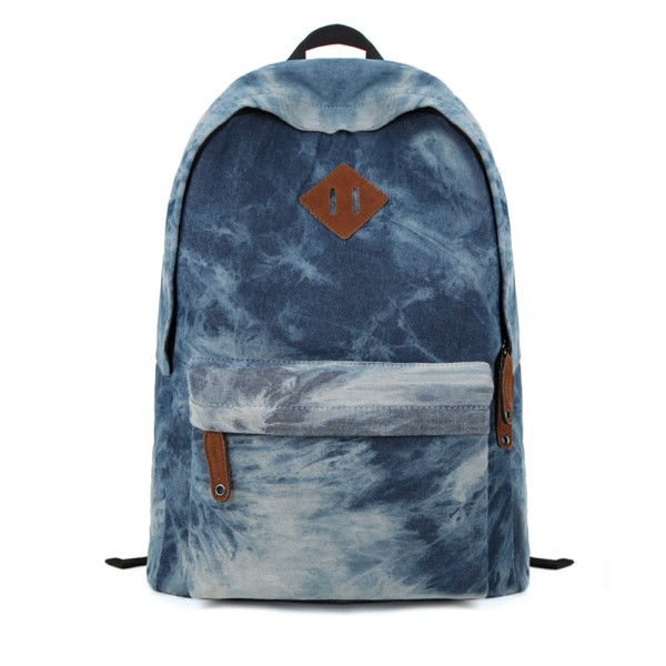 blue tie dye backpack school bag on luulla